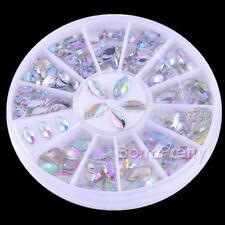 1Box  Nail Art Mini Shiny Oval Rhinestone Acrylic UV Gel Decoration 3*6mm/4*8mm