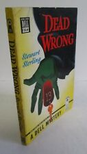 DEAD WRONG by Stewart Sterling, 1947 Dell Mystery #314 with Crime Map back cover
