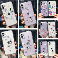Cartoon Astronaut Clear Soft TPU Case Cover For iPhone 12 Pro Max 11 XS XR X 8 7