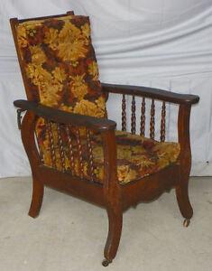 Rare Child's Antique Oak Morris Chair – Original Finish -