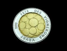 Schweiz-CH.,  5 Franken, 1999 B, Fete des Vignerons, Bimetall, orig. St.!
