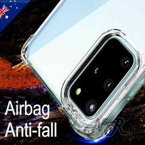 For Samsung Galaxy S20+ S20 FE Ultra S10 S9 S8 Plus Clear Case Heavy Duty Cover