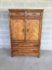 CENTURY CHAIR COMPANY FAUX BAMBOO ARMOIRE - WARDROBE CABINET