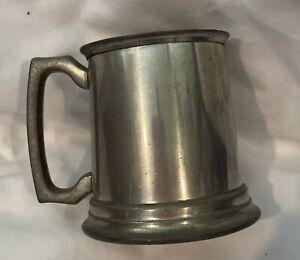 HUNTLY Vintage Pewter Beer Stein Metal Tankard Cup Mug (Silcraft) Retro Man Cave
