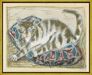 Framed Otto Dix Cats 1959 Giclee Canvas Print Paintings Poster Reproduction