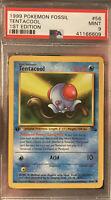 1999 Tentacool 1st Edition Pokemon Fossil PSA 9 Non Holo Base