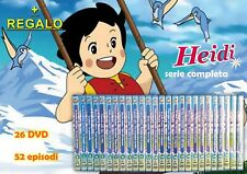 HEIDI SERIE TV COMPLETA CARTONE ANIMATO DeAgostini 26 DVD 52 episodi + REGALO