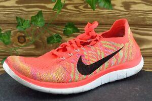 Nike Free 4.0 Women Sz 9 M Orange Lace Up Running Fabric Shoe