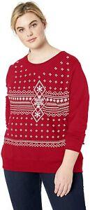 JUST MY SIZE Women's Size Plus Ugly Christmas Sweatshirt