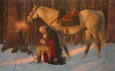 Arnold Friberg PRAYER AT VALLEY FORGE George Washington Praying S/N Paper Print