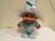 Russ Troll Boy With Green Hair, Green Stripped P.J.S With Drop Down Rear, 8 Inch