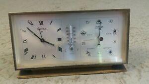 Swiza Combination Desktop Clock , Alarm , Barometer