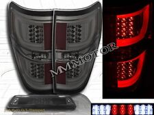 2009-14 Ford F150 XL XLT STX Pickup Smoke Tail Lights G2 + Smoke 3rd Brake Light