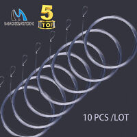 Maxcatch Fly Fishing Tapered Leader Line 7.5/9/12/15ft With Loop 10 PCS (0X-7X)