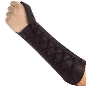 TRADITIONAL ARCHERY SHOOTING GLOVE ARM GUARD COW LEATHER HL#309 BLACK.