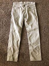 BILLS KHAKIS Pants Flat Front stretch twill Sz 32 x 32 Cement light khaki USA