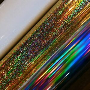 Oil slick / holographic / gold glitter vinyl sticker banners / jdm sticker
