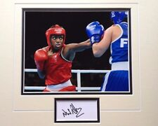 NICOLA ADAMS - OLYMPIC GOLD MEDAL WINNING BOXER - SIGNED COLOUR PHOTO DISPLAY