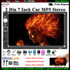 7'' 2 DIN Touch Screen Car Radio MP5 Audio Bluetooth Stereo USB/TF/AUX/FM/Remote