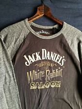 Lucky Brand Jack Daniel's White Rabbit Saloon Old No. 7 Tennessee Whiskey Shirt