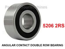 (1) ANGULAR CONTACT DOUBLE ROW BALL BEARING, 5206 2RS, 30mm X 62mm X 23.8mm