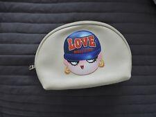 LOVE MOSCHINO beige make up bag / clutch bag - brand new