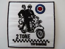 2 Tone Top Ranking Scooter Biker Embroidered Patch Heavy Mods and Rockers