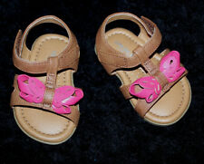 Genuine Kids by OshKosh Infant Girls Sandals Size 2 Cute Pink Butterfly Bow New