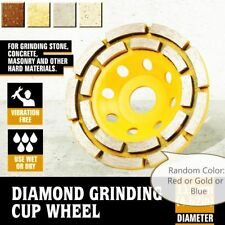 "5 Piece X 4.5"" / 115mm Diamond Double Row Grinding Cup Wheel concrete aggregate"