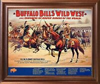 Wild West Buffalo Bill's Western Rough Riders Horses Wall Decor Framed Picture
