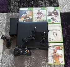 Microsoft Xbox 360 S Slim Konsole+ Spiele + 20 GB HDD+ FUNK Controller+ HDMI PAL