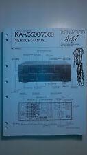 kenwood ka-v5500 7500 service manual original repair book stereo amp amplifier
