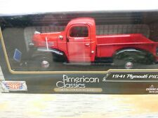 MOTOR MAX AMERICAN CLASSICS DIE CAST 1941 PLYMOUTH PICKUP TRUCK 1:24 SCALE CAR