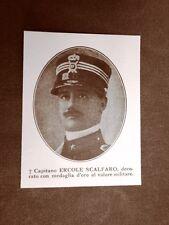 WW1 Prima guerra mondiale 1914-1918 Caduto Ercole Scalfaro Medaglia d'oro