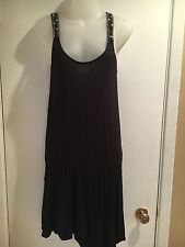 AMERICAN EAGLE OUTFITTERS Women's Juniors Summer Dress Black Small Asymmetrical