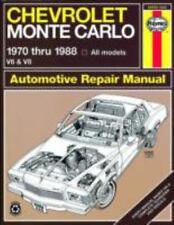 1970-1988 Haynes Chevrolet Monte Carlo Repair Manual
