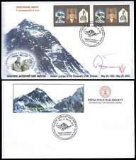 NEPAL MT. EVEREST CONQUEST SCARCE SIGNED HILARY / TENZING EXPEDITION COVER