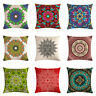 Throw Pillow Case Bohemian Style Mandala Cushion Cover Linen Cotton Home Decor