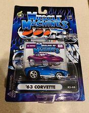 MUSCLE MACHINES Blue 1963 Chevy Corvette