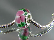 925 SILVER STAMPED MURANO GLASS BEAD FOR EUROPEAN STYLE CHARM BRACELETS (DC 217)