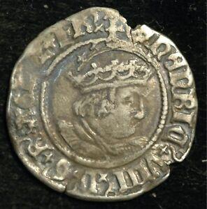 Half Groat Henry VIII Hammered 1509-47 Thomas Cranmer  (T112)