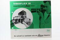 Broschüre Leitz Visoflex III Visoflex 3 Zeitschrift