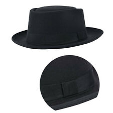 PRO HOT Wool Mens Felt Crushable Porkpie Vintage Round Short Brim Fedora Hat Cap