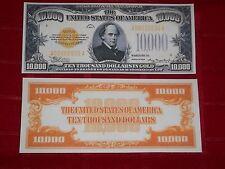 Nice Crisp Unc.1934 $10,000 Gold Certificate Copy Please Read Description!