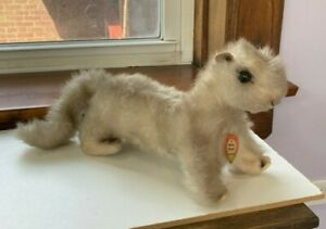 Minky Wiesel Steiff Stuffed Animal with Orig Paper & Metal Tags 1950s Exc Cond