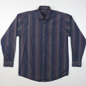 Daks London Mens Striped Shirt Size L