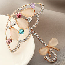 Opal And Rhinestone Umbrella Brooch Pin Cute Korea Style Brooches For Women TB