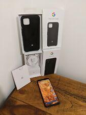 Google Pixel 4 XL 128GB-SOLO NERO (SBLOCCATO) Inc. Google Fabric caso