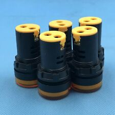 5pcs 24V 22mm Yellow LED Indicator Pilot Signal Light Lamp [DORL_A]