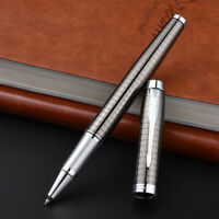 Perfect Parker IM Series Metal Gray Grid Silver Clip 0.5mm Fine Rollerball Pen